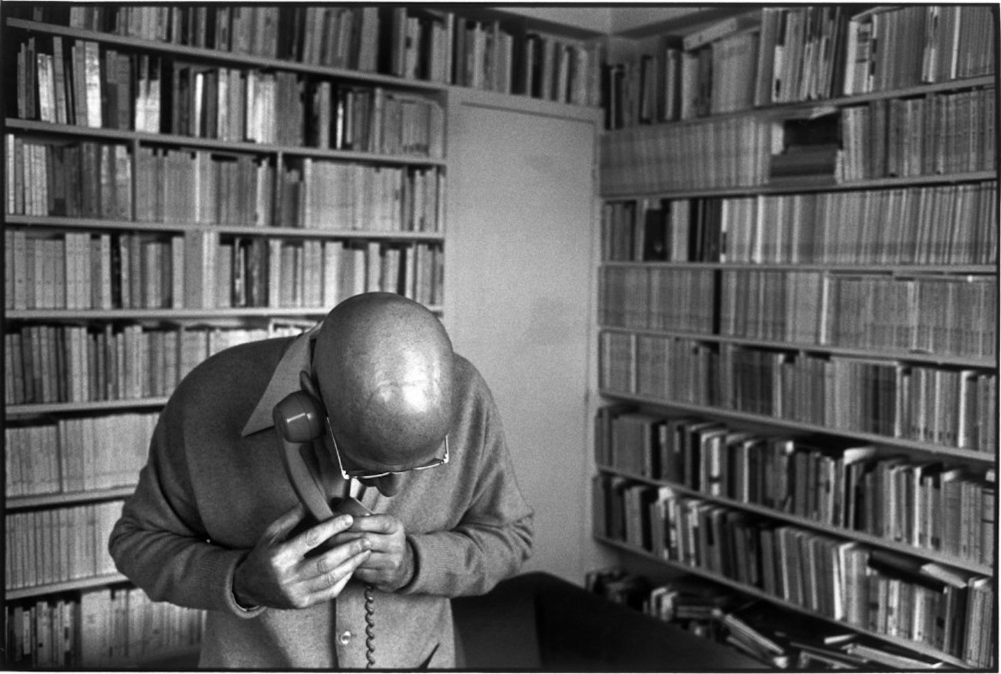 French philosopher Michel FOUCAULT at home